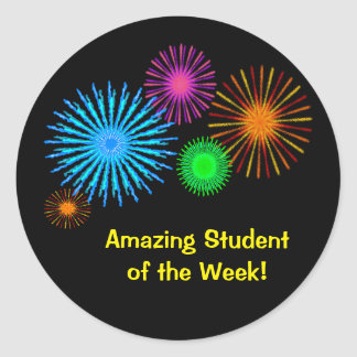Amazing Student of the Week Round Sticker
