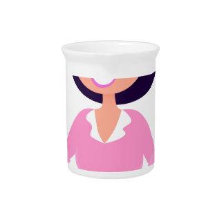Amazing stylish Lady with Computer purple Pitcher