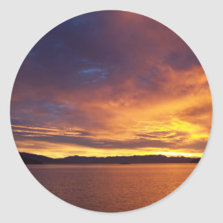 Amazing Sunrise Classic Round Sticker