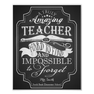 Amazing teacher is impossible to forget poster