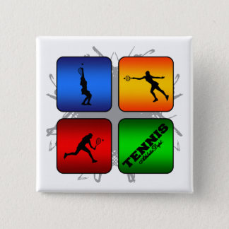 Amazing Tennis Urban Style (Female) 15 Cm Square Badge