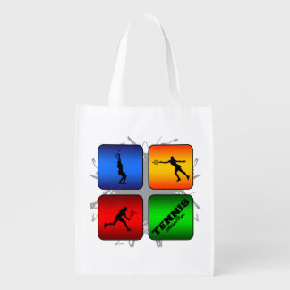 Amazing Tennis Urban Style (Female) Reusable Grocery Bag