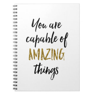 Amazing Things Motivational Quote Notebook