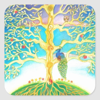 AMAZING TREE OF LIFE SQUARE STICKER
