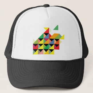 Amazing Triangle Print Hypnotic Trucker Hat