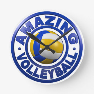 Amazing Volleyball Round Clock