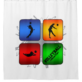 Amazing Volleyball Urban Style Shower Curtain