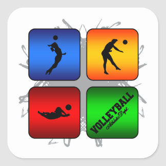 Amazing Volleyball Urban Style Square Sticker