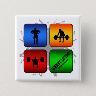 Amazing Weight Lifting Urban Style 15 Cm Square Badge