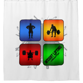 Amazing Weight Lifting Urban Style Shower Curtain