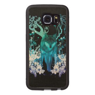 Amazing wolf wood phone case