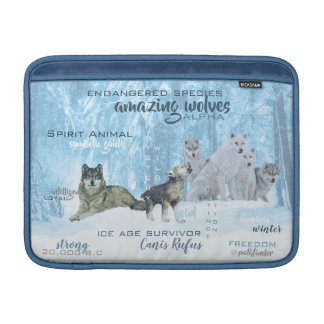Amazing Wolves Typography | Personalized MacBook Sleeve