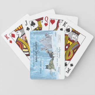 Amazing Wolves Typography | Personalized Playing Cards