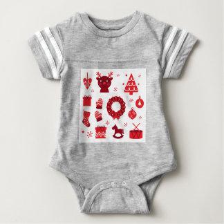 Amazing xmas Elements Red Baby Bodysuit