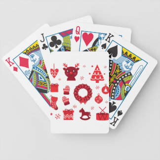 Amazing xmas Elements Red Bicycle Playing Cards