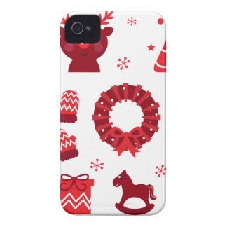 Amazing xmas Elements Red iPhone 4 Cases