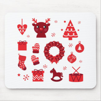 Amazing xmas Elements Red Mouse Pad