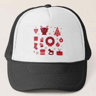 Amazing xmas Elements Red Trucker Hat