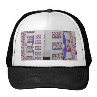 Amazing YOGA text in silver background MEDITATION Trucker Hat