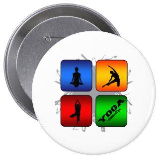 Amazing Yoga Urban Style 10 Cm Round Badge