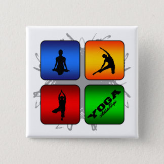 Amazing Yoga Urban Style 15 Cm Square Badge