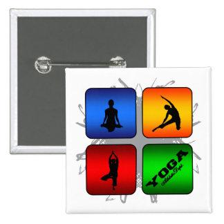 Amazing Yoga Urban Style 15 Cm Square Badge