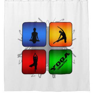 Amazing Yoga Urban Style Shower Curtain