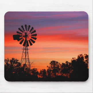 Amazingly Colorful Dawn Sunrise Windmill Mouse Pads