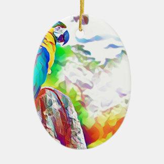 Amazon Bird Ceramic Oval Decoration