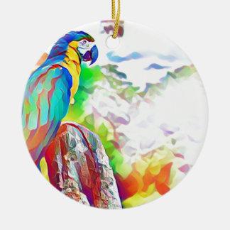 Amazon Bird Round Ceramic Decoration