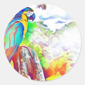 Amazon Bird Round Sticker
