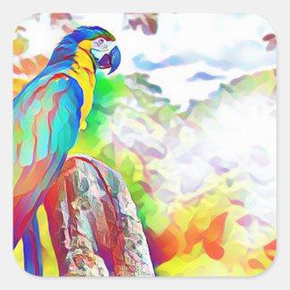 Amazon Bird Square Sticker