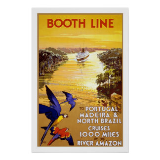 Amazon Brazil Booth Line Vintage Travel Posters