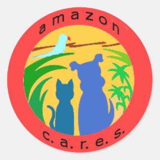 Amazon Cares Logo Stickers