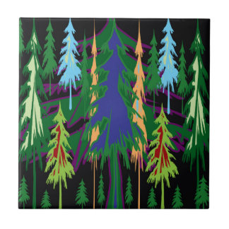 Amazon Dense Forest Trees Abstract Art on Gifts Small Square Tile
