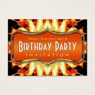 Amazon Fire Wings Abstract Art Mini Invitations