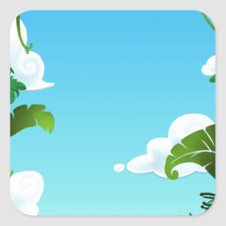 Amazon Forest Painting Square Sticker