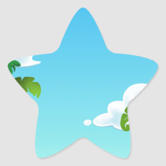 Amazon Forest Painting Star Sticker