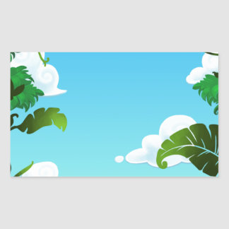 Amazon Forest Painting Rectangular Sticker