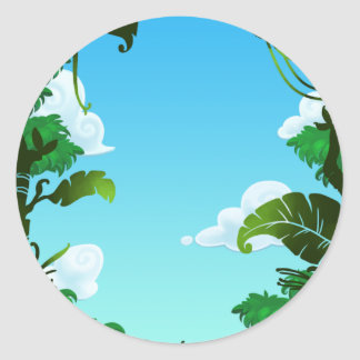 Amazon Forest Painting Round Stickers