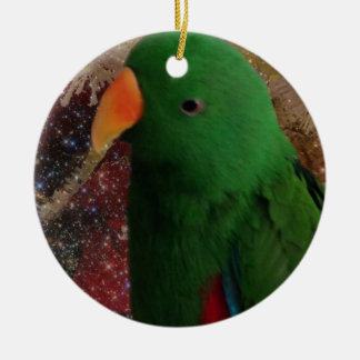 Amazon Green Parrot Ornament
