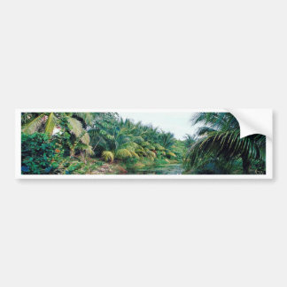 Amazon Jungle River Landscape Bumper Sticker