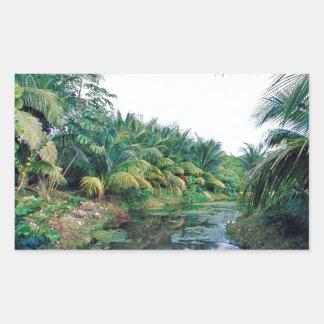 Amazon Jungle River Landscape Rectangle Sticker