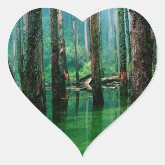 Amazon Marsh Heart Sticker