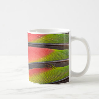 Amazon parrot feathers coffee mug
