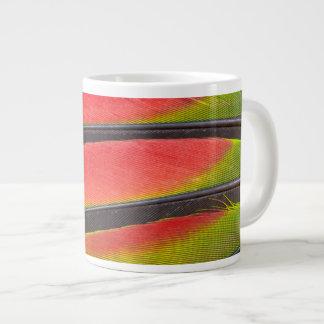 Amazon parrot feathers large coffee mug