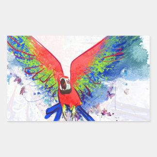 Amazon Parrot Macaw Rectangular Sticker