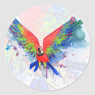 Amazon Parrot Macaw Stickers