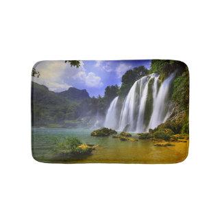 Amazon Rainforest Tropical Waterfall Bath Mat