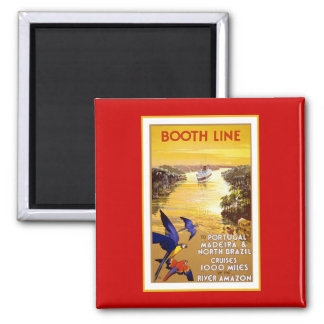 Amazon River  Booth Line Square Magnet